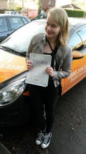 Sarah Driving test 2014