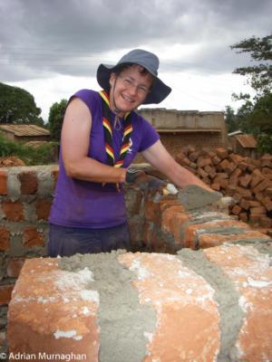 Liz working in Uganda
