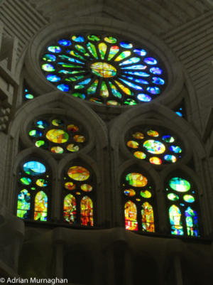 Stained glass at Sagrada Familia