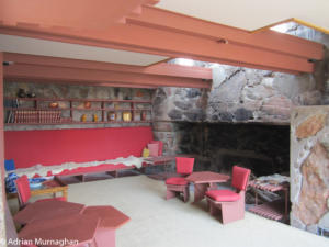 Frank Lloyd Wright's lounge at Taliesin West