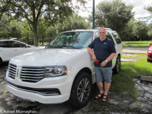 Adrian and our Lincoln SUV
