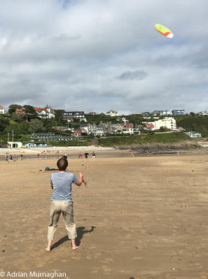 Kite flying in Wales