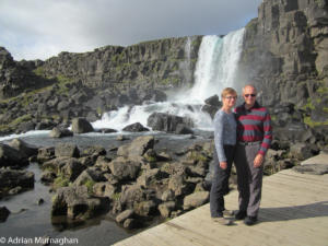 Adrian and Liz at Pingvellir, Iceland