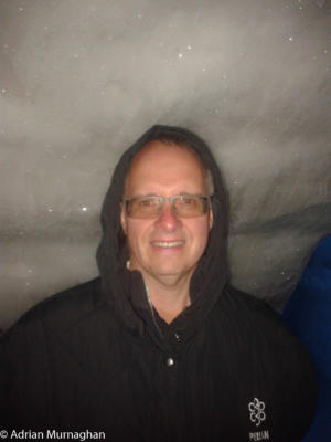 Adrian in an Ice cave